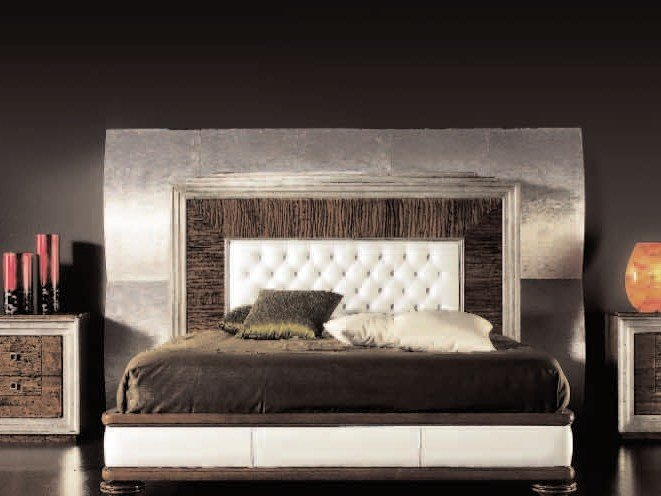 Wooden double bed ÉTOILE NIGHT | Wooden bed by Cantiero