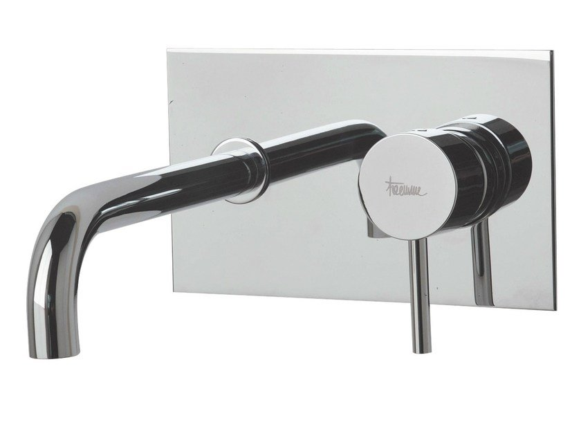 Wall-mounted washbasin mixer with plate X-CHANGE_MONO | Wall-mounted washbasin mixer by Rubinetterie 3M