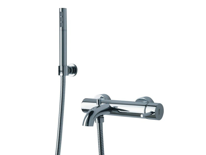 Wall-mounted bathtub mixer with hand shower X-CHANGE_MONO   Bathtub mixer with hand shower by Rubinetterie 3M