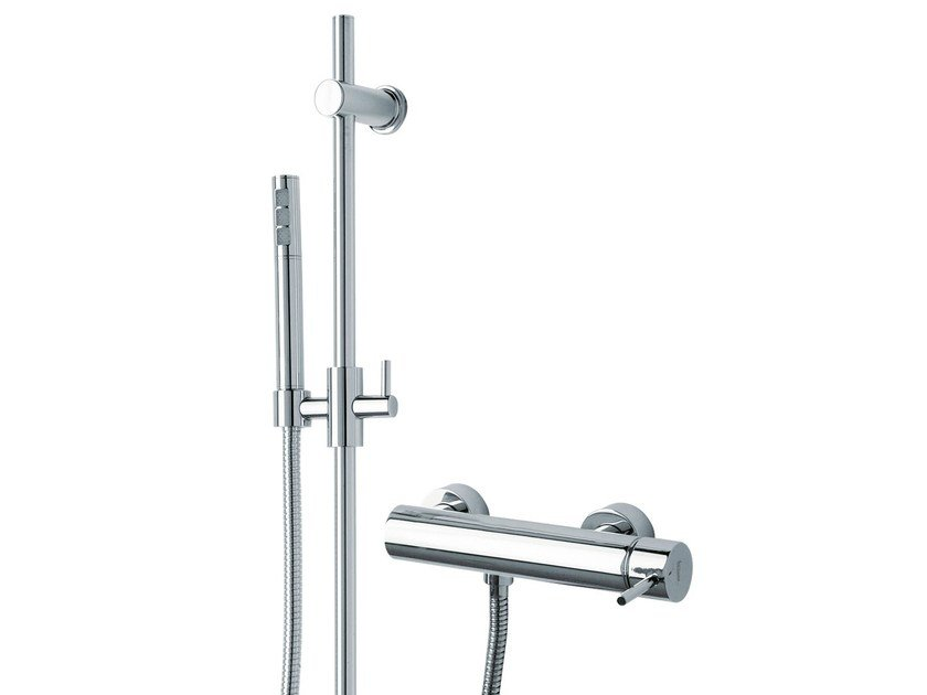 2 hole shower mixer with hand shower X-CHANGE_MONO | Shower mixer with hand shower by Rubinetterie 3M