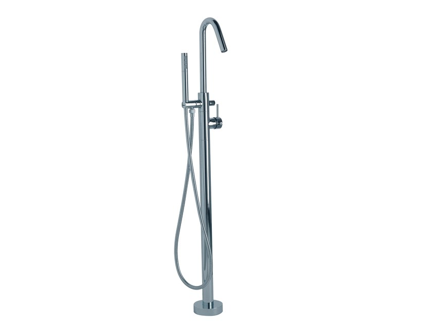 Floor standing 1 hole bathtub mixer X-CHANGE_MONO | Floor standing bathtub mixer by Rubinetterie 3M