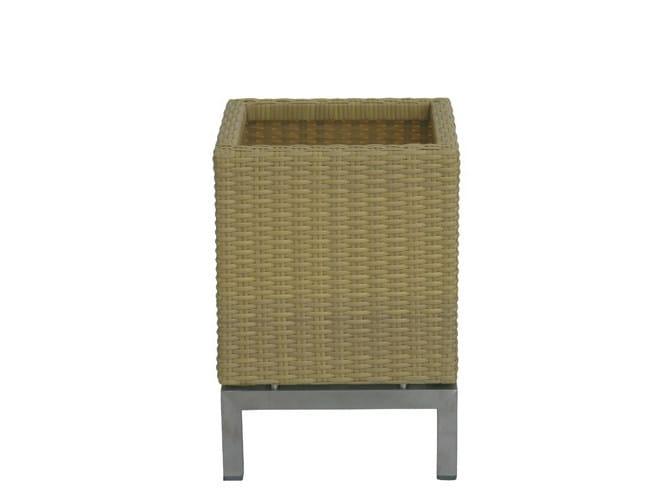 Stainless steel planter GEO | Synthetic fibre planter by Il Giardino di Legno