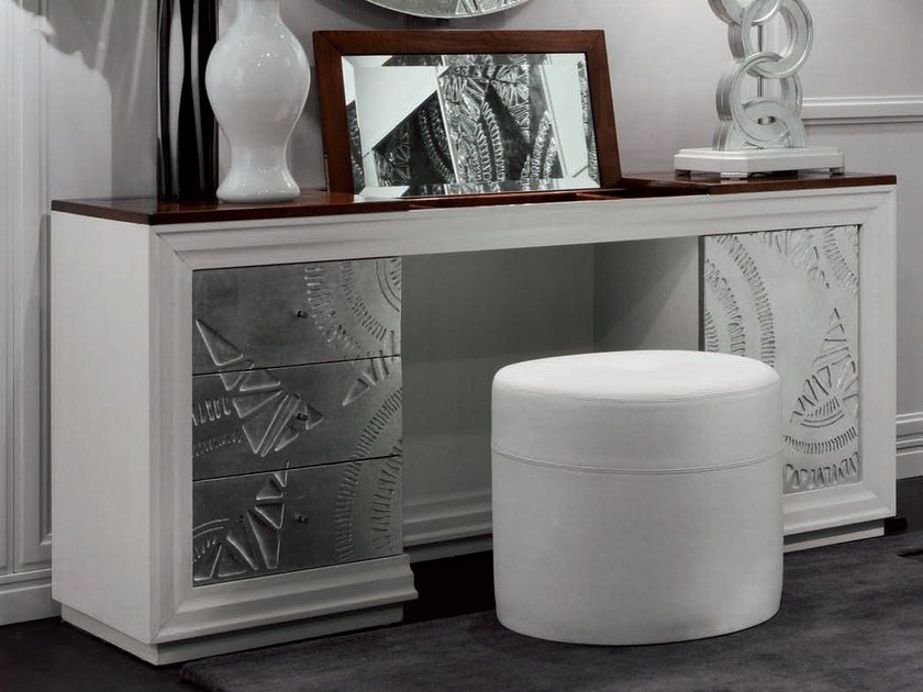Silver leaf dressing table ÉTOILE NIGHT | Dressing table by Cantiero