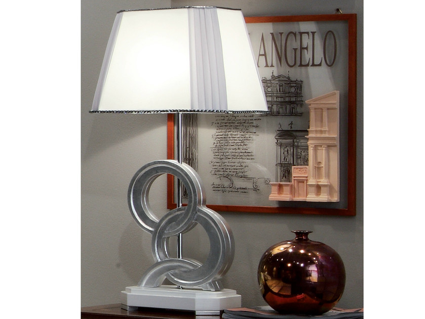 Silver leaf bedside lamp ÉTOILE NIGHT | Bedside lamp by Cantiero