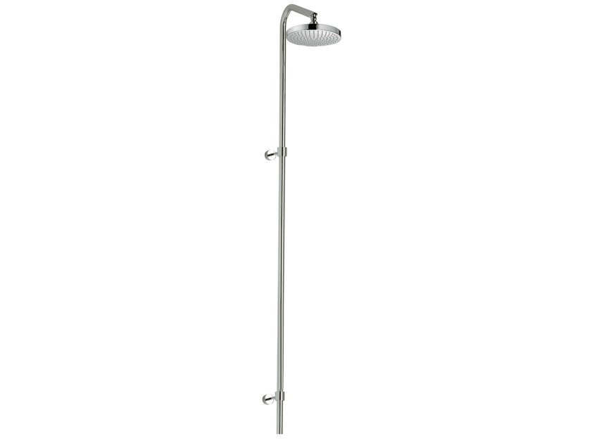 Wall-mounted shower panel with overhead shower X-CHANGE_MONO | Wall-mounted shower panel by Rubinetterie 3M