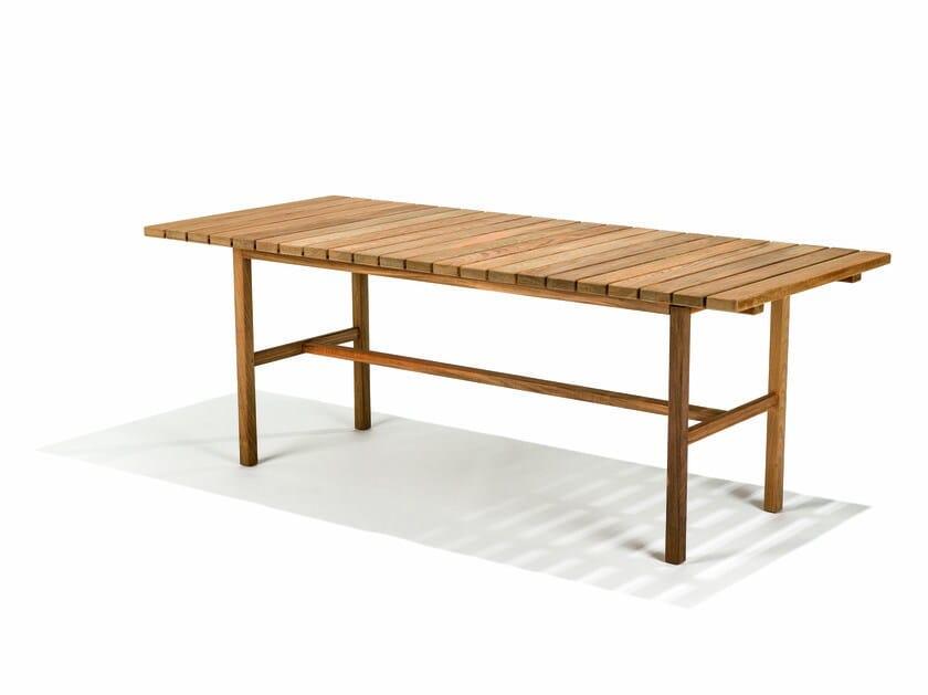 Rectangular teak garden table DJURÖ | Rectangular garden table by Skargaarden