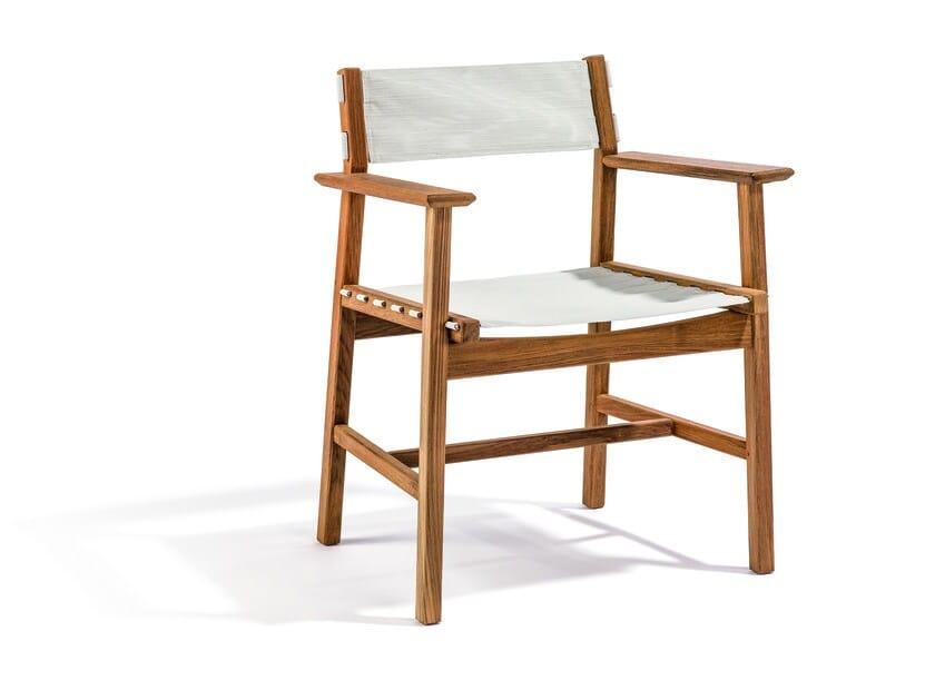 Batyline® garden chair with armrests DJURÖ | Batyline® garden chair by Skargaarden