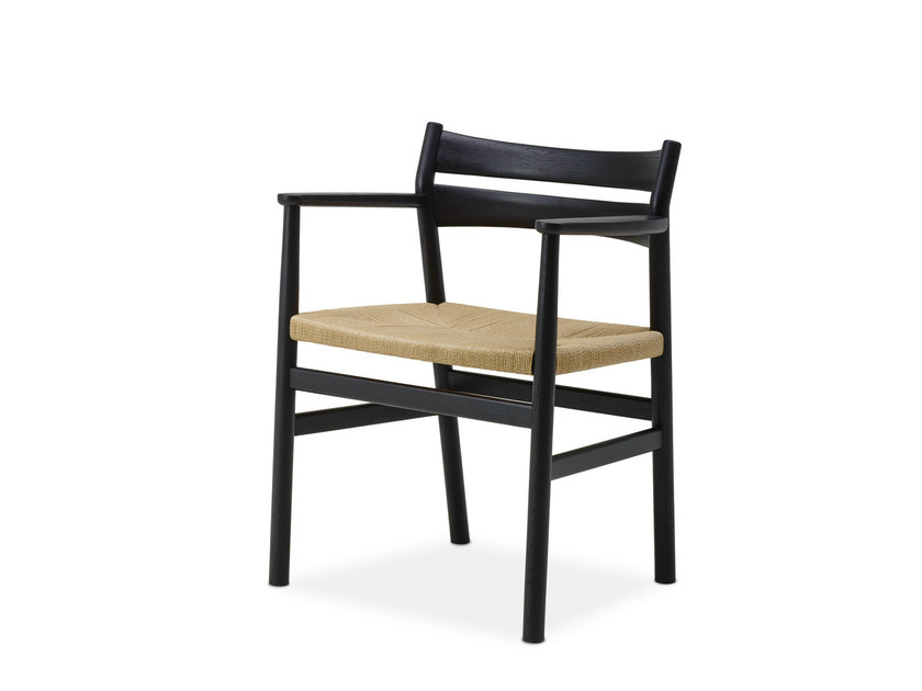 Oak chair with armrests BM2 CHAIR by dk3