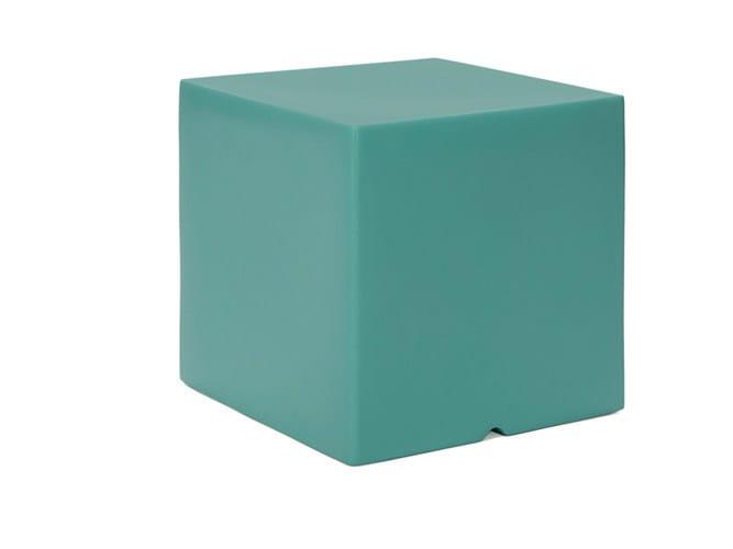Low Square polyethylene garden side table MOOD | Polyethylene garden side table by Il Giardino di Legno