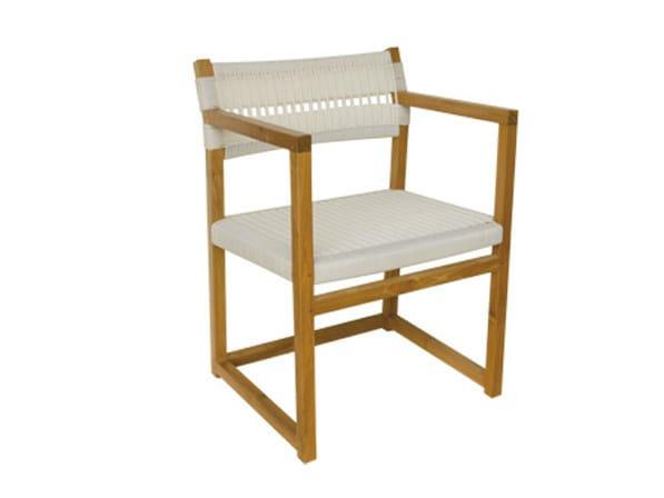 Synthetic fibre garden chair with armrests EMILY | Garden chair by Il Giardino di Legno