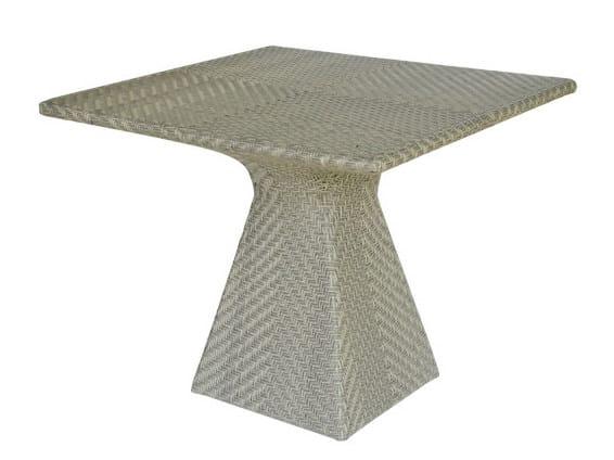 Square synthetic fibre garden table PATIO by Il Giardino di Legno
