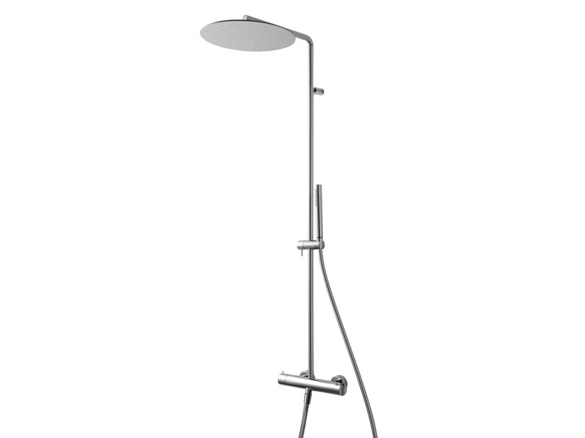Shower mixer with hand shower and overhead shower NANOTECH | Shower mixer with overhead shower by Rubinetterie 3M