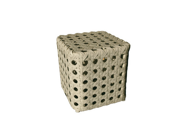 Low Square synthetic fibre garden side table ISABEL   Square garden side table by Il Giardino di Legno