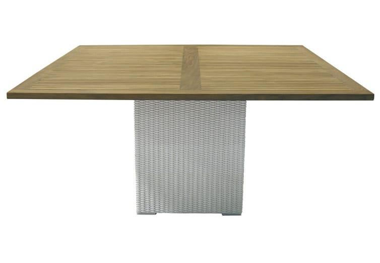 Square synthetic fibre garden table SENTOSA   Garden table by Il Giardino di Legno