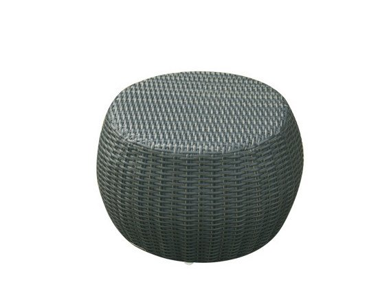 Synthetic fibre garden pouf / garden side table SENTOSA | Garden pouf by Il Giardino di Legno