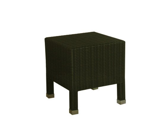Low Square synthetic fibre garden side table SENTOSA | Square garden side table by Il Giardino di Legno