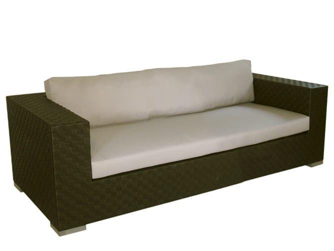 Divano da giardino a posti in fibra sintetica maui divano da