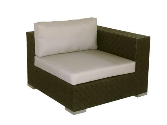 Sectional modular synthetic fibre garden sofa MAUI | Sectional garden sofa by Il Giardino di Legno