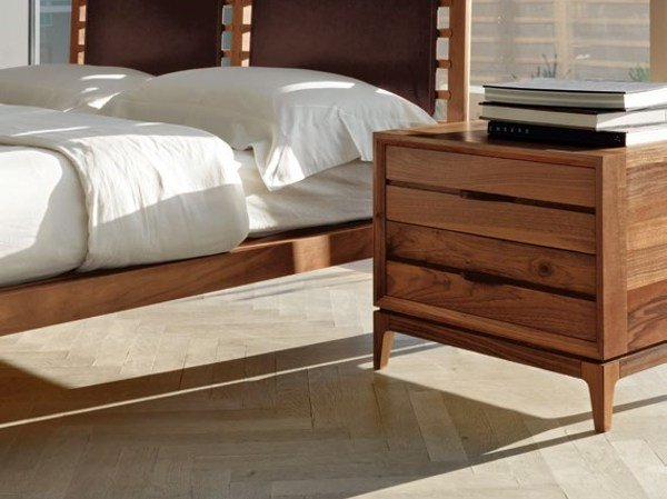 Wooden bedside table with drawers M-116 | Bedside table by Dale Italia