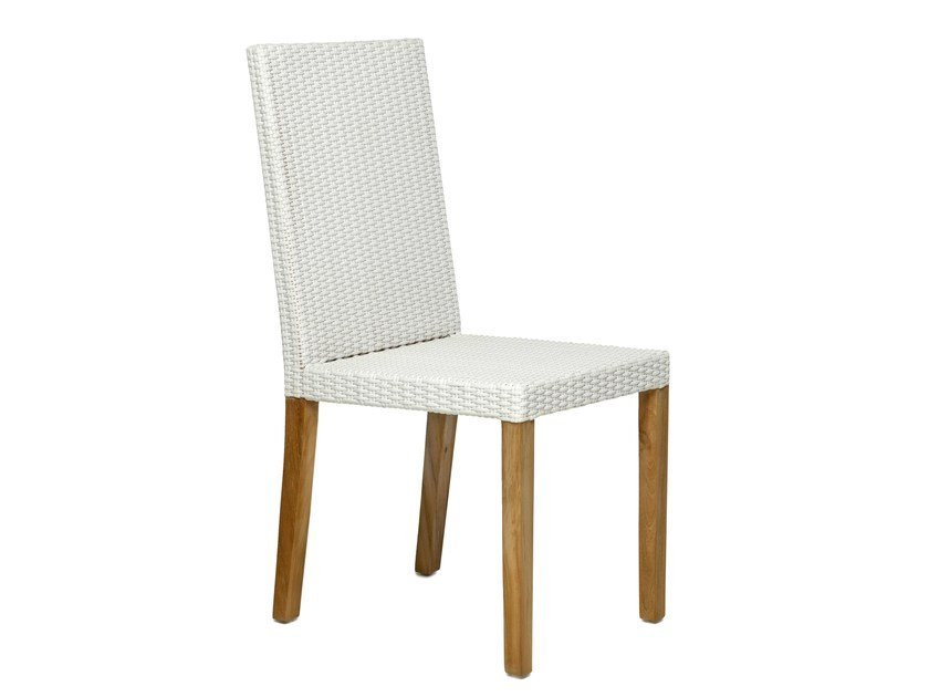 Synthetic fibre garden chair with high back FIJI | Garden chair with high back by Il Giardino di Legno