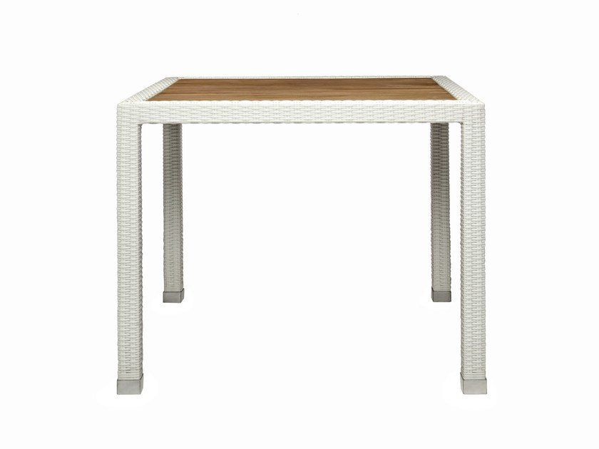 Square synthetic fibre garden table FIJI | Square garden table by Il Giardino di Legno