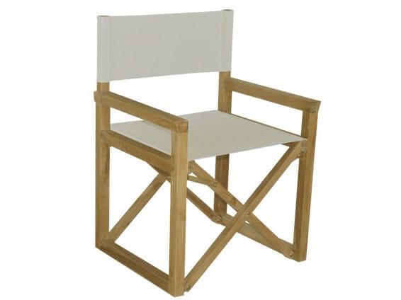 Folding wooden garden chair with armrests VENEZIA | Garden chair by Il Giardino di Legno