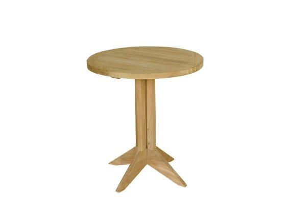 Round wooden garden side table MACAO | Garden side table by Il Giardino di Legno