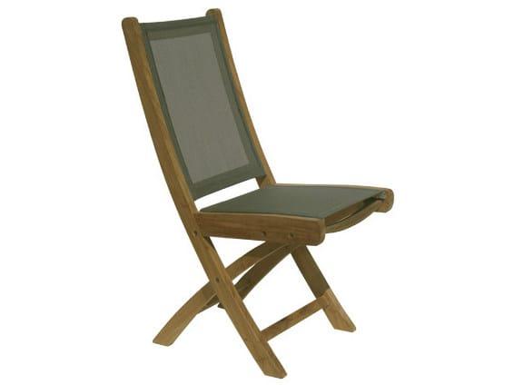 Folding Batyline® garden chair MACAO   Folding garden chair by Il Giardino di Legno