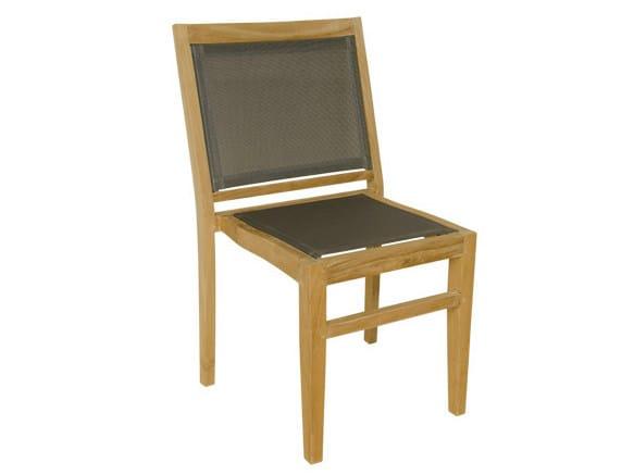 Stackable Batyline® garden chair MACAO | Garden chair by Il Giardino di Legno