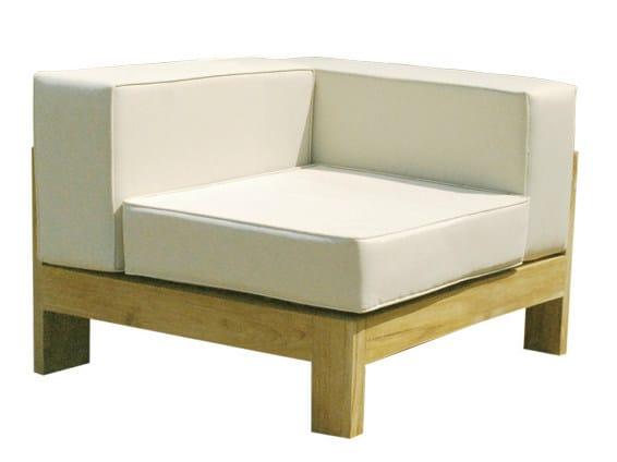 Sectional modular wooden garden sofa SAINT RAPHAEL | Sectional garden sofa by Il Giardino di Legno