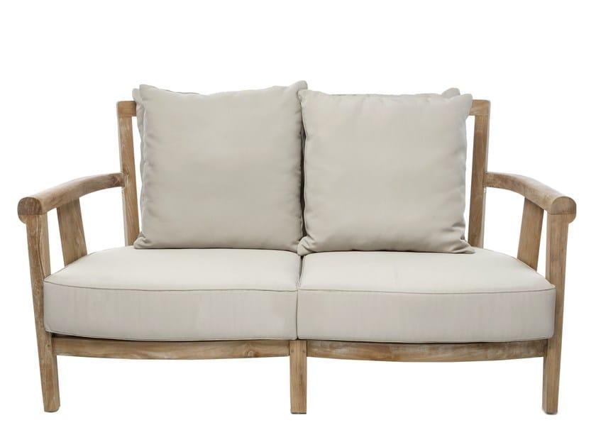2 seater wooden garden sofa SAINT LAURENT | Garden sofa by Il Giardino di Legno