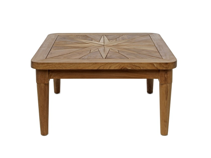 Low Square wooden garden side table SAINT LAURENT | Square garden side table by Il Giardino di Legno