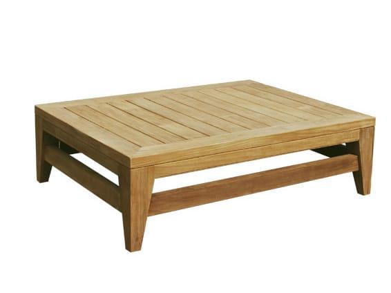 Tavolino Basso In Legno Da Giardino.Saint Laurent Tavolino Da Giardino Rettangolare By Il
