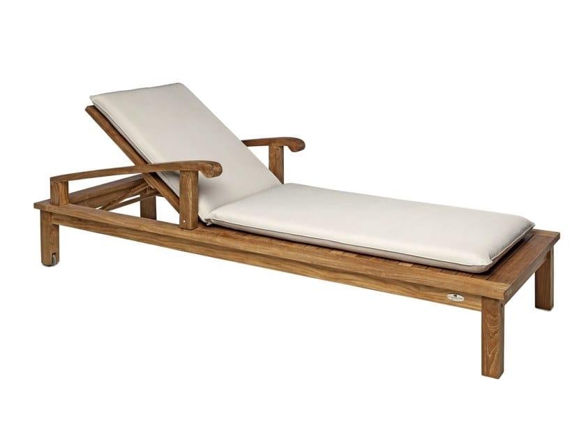 Recliner wooden garden daybed SAINT LAURENT | Garden daybed by Il Giardino di Legno