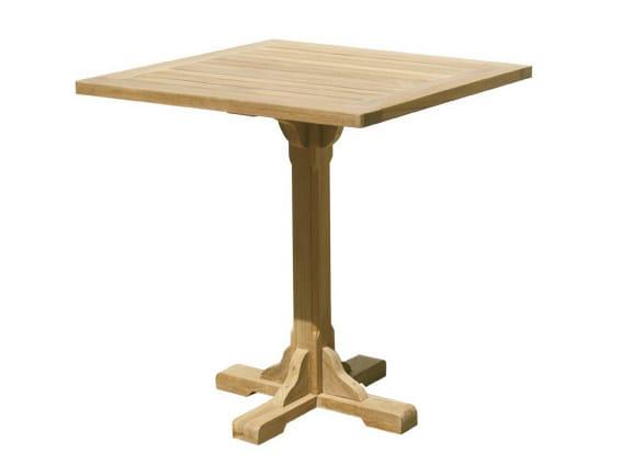 Square wooden garden table BISTROT | Square garden table by Il Giardino di Legno