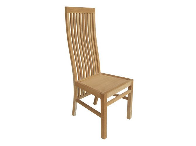Wooden garden chair with high back ELEGANCE | Garden chair with high back by Il Giardino di Legno
