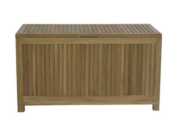 Wooden garden bench with storage space VICKY | Teak garden bench by Il Giardino di Legno