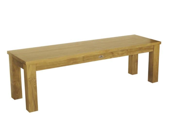 Wooden garden bench RATIO | Garden bench by Il Giardino di Legno