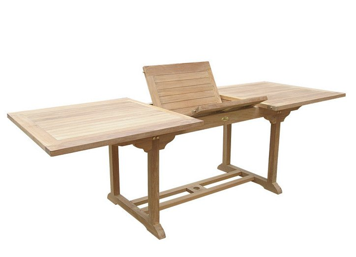 Table de jardin extensible rectangulaire en bois TITANO By Il ...