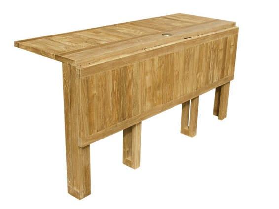 Folding Rectangular Wooden Garden Table Telemaco By Il Giardino Di Legno