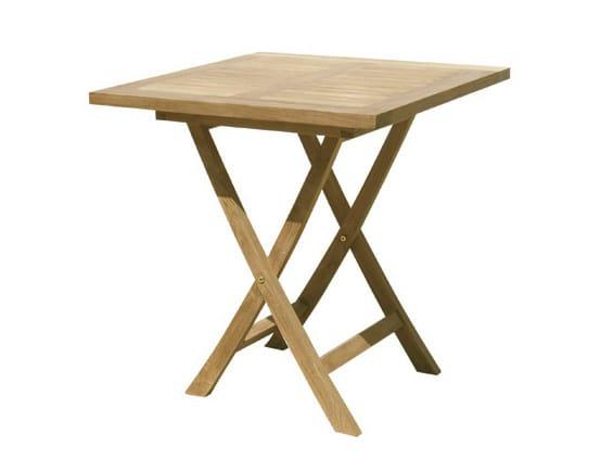 Singaraja tavolo da giardino quadrato by il giardino di legno