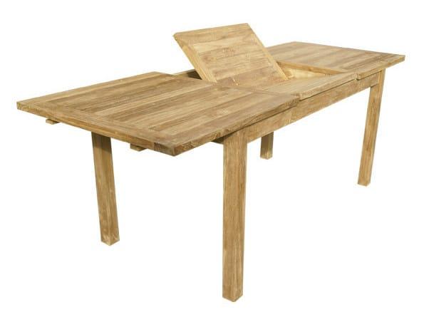 Table de jardin extensible rectangulaire en bois MEDEA By Il ...