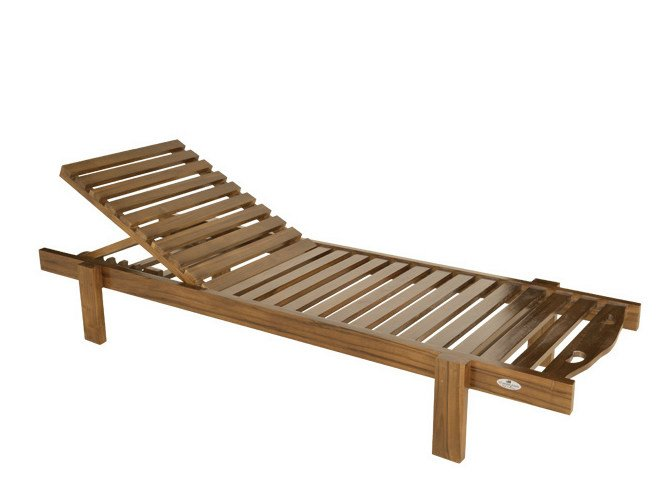 Recliner wooden garden daybed LOS ROQUES | Garden daybed by Il Giardino di Legno