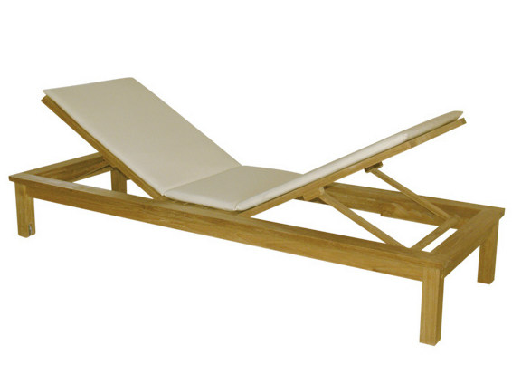 Recliner wooden garden daybed SUNSEEKER by Il Giardino di Legno