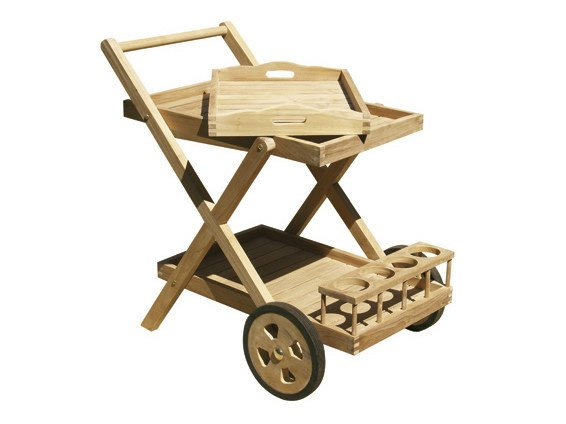 Food wooden outdoor trolley TROLLEY by Il Giardino di Legno