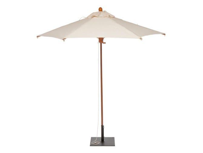 Round iroko Garden umbrella PARA | Round Garden umbrella by Il Giardino di Legno