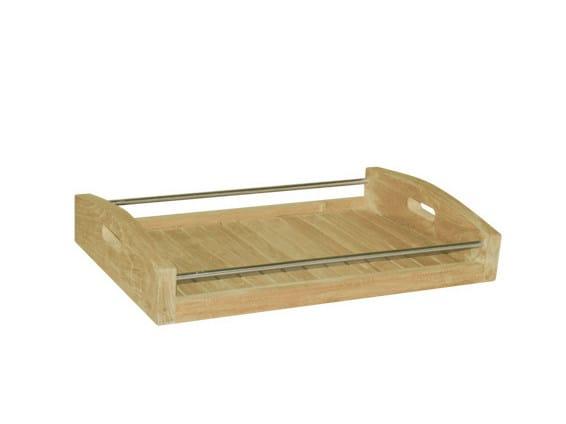 Wooden tray KOKO | Teak tray by Il Giardino di Legno