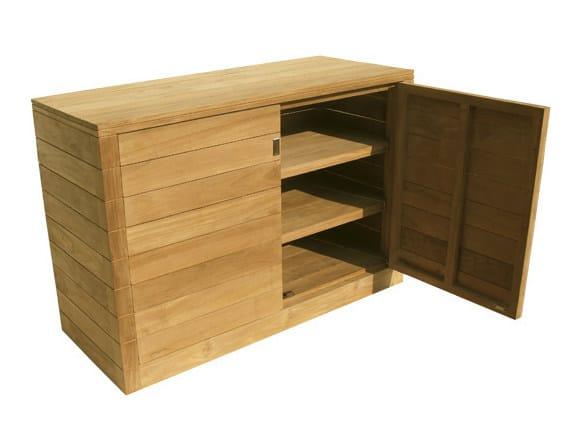 mobile contenitore da giardino in legno fugu mobile