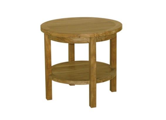 Low Round wooden garden side table TENNIS | Garden side table by Il Giardino di Legno