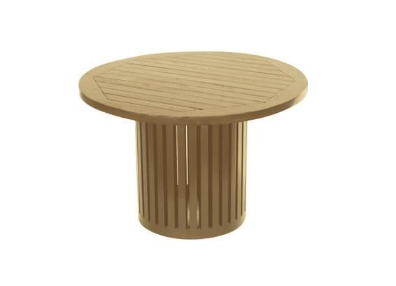 Low Round wooden garden side table TENNIS | Round garden side table by Il Giardino di Legno
